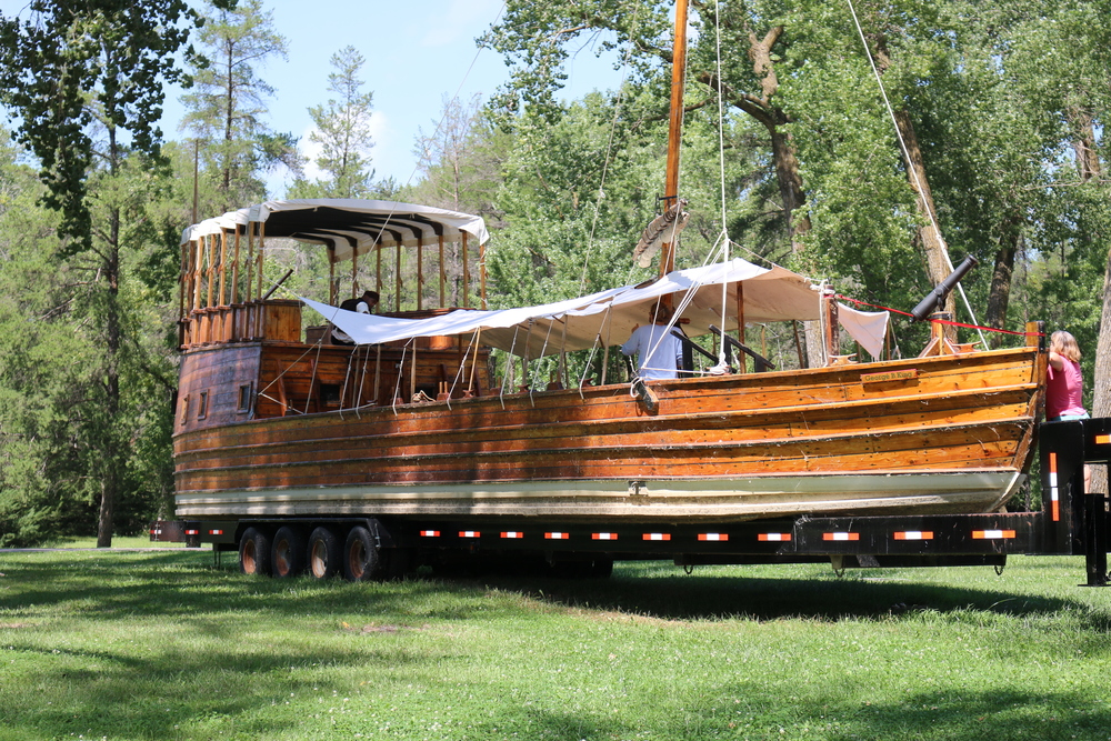 The keel boat replica at Lewis and Clark SP, IA.