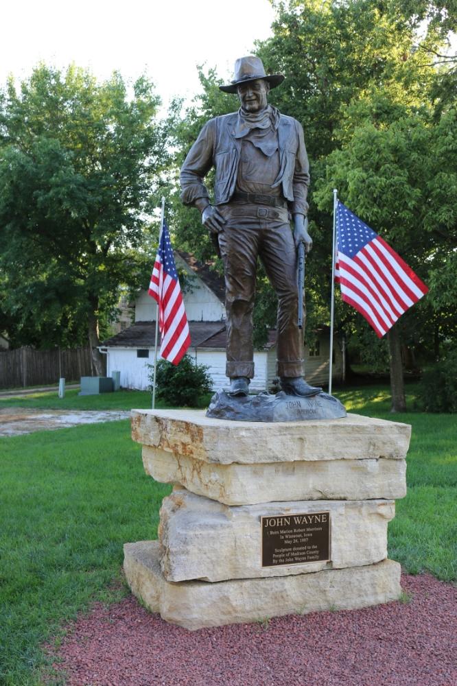 John Wayne's birthplace: Winterset, IA