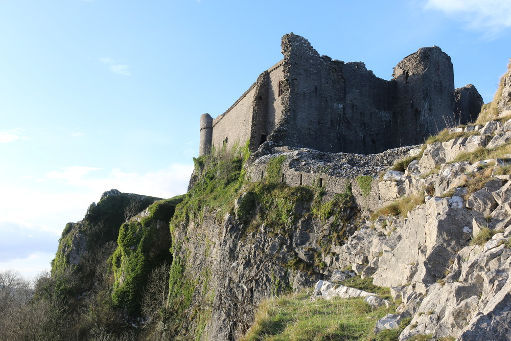 Carreg Cennen Castle: formidable atop a 300 ft cliff.