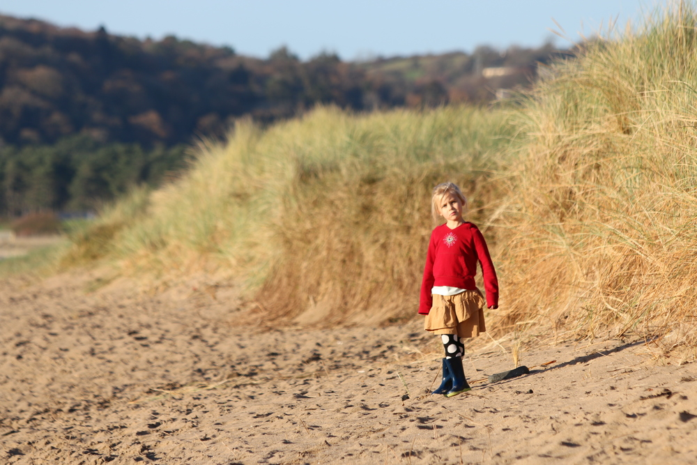 Anwen on Llanelli Beach