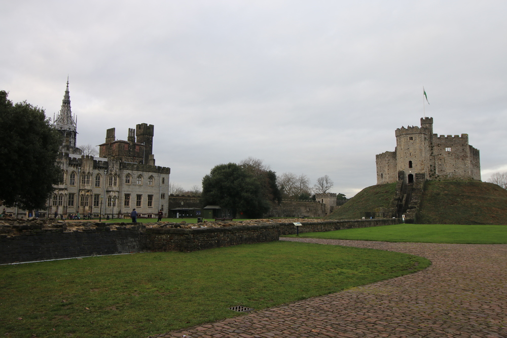Cardiff Castle: Geogian main range and Norman keep