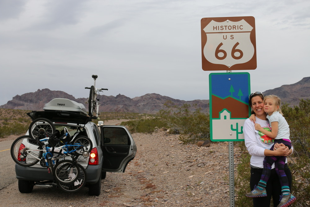 Route 66: on our way to the wacky town of Oatman, AZ.