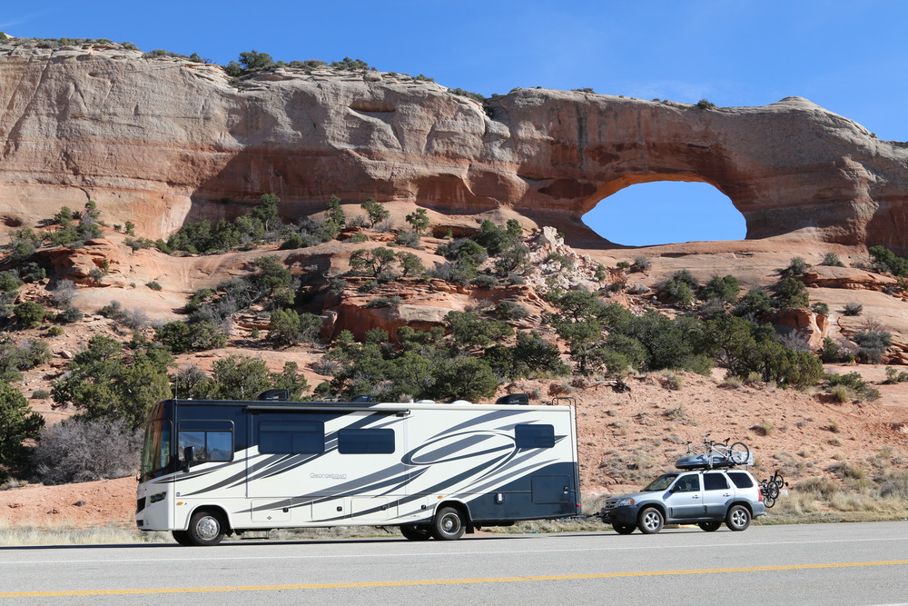 Wilson Arch (near Moab): 91' wide and 46' high.