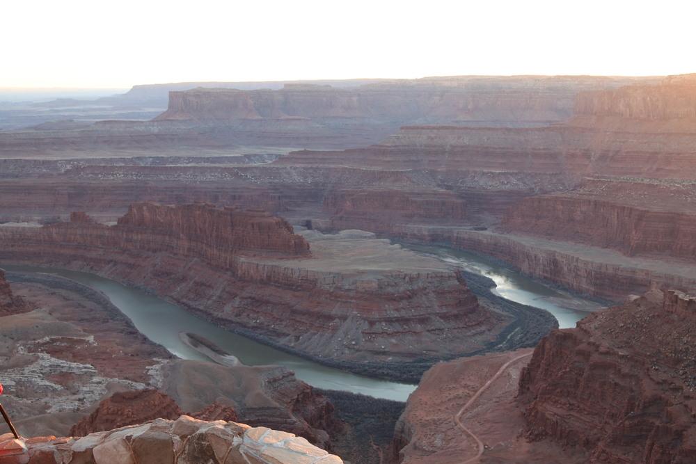 Dead Horse Point: 2000' above a gooseneck in the Colorado river.