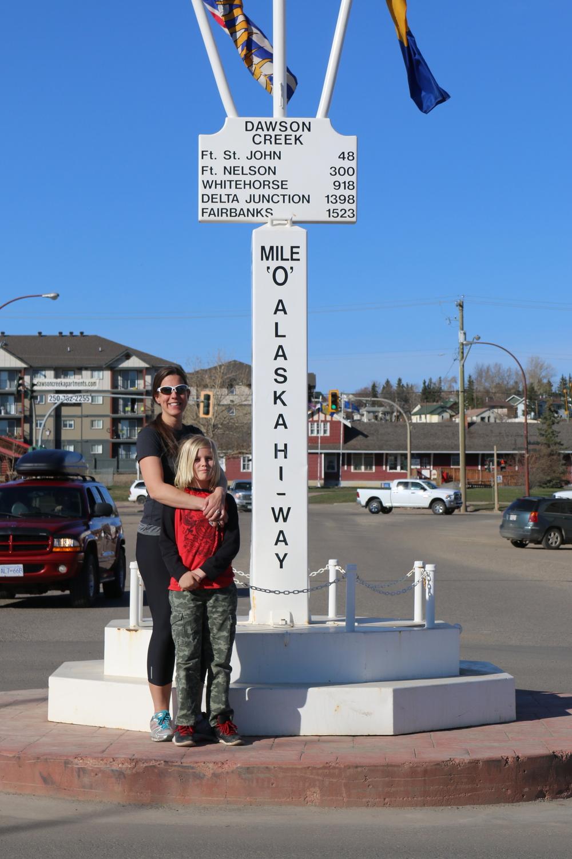 Mile 0 of the Alaska Hwy: Dawson Creek, BC