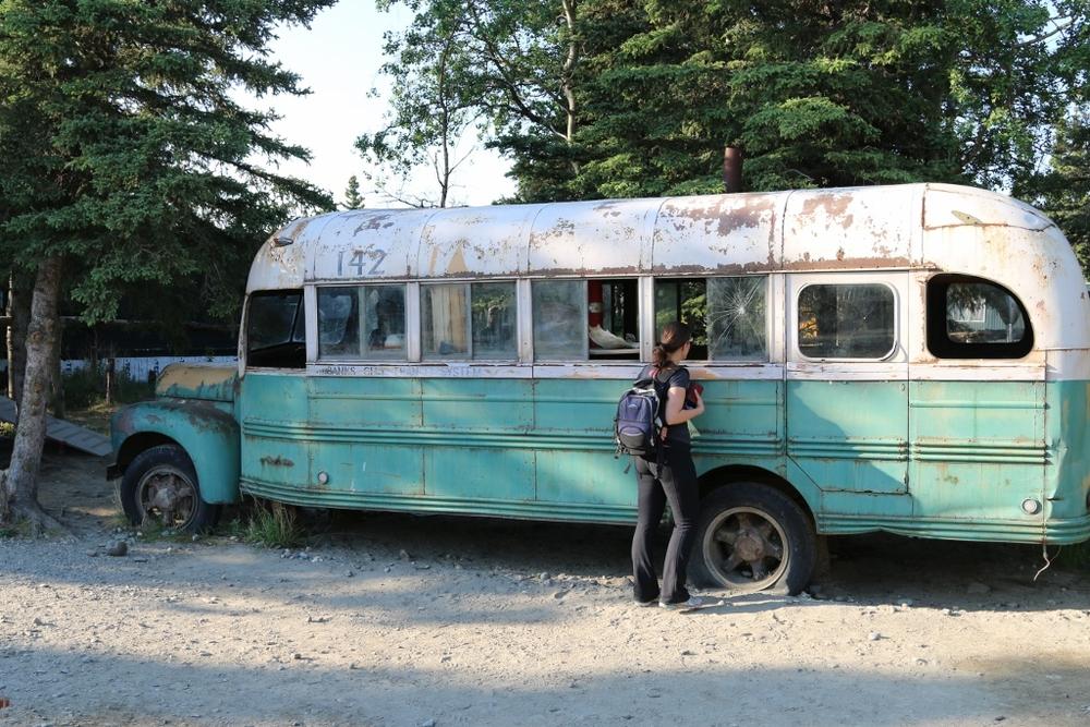 "The ""Into the Wild"" replica bus used in the movie"
