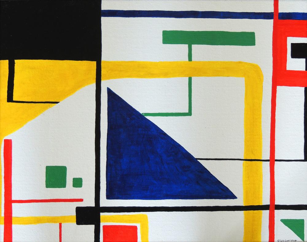 Prospect park-   Acrylic on canvas,  20x 16 inch,  2012.