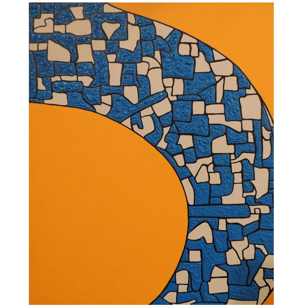 Carolina-   Acrylic on canvas,  20 x 16 inch,  2013.
