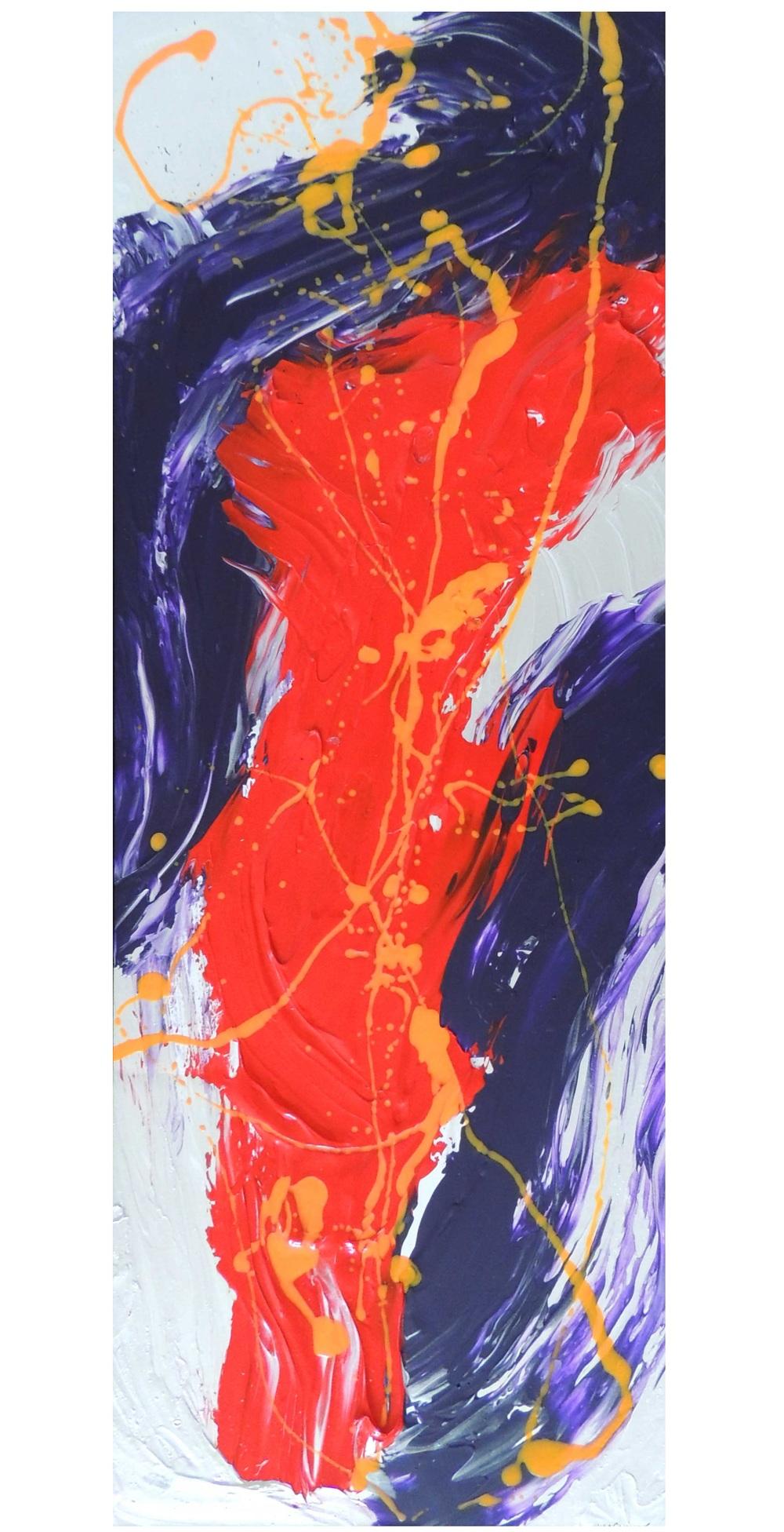 Him -  Acrylic on cardboard,  25 x 7 inch,  2013.