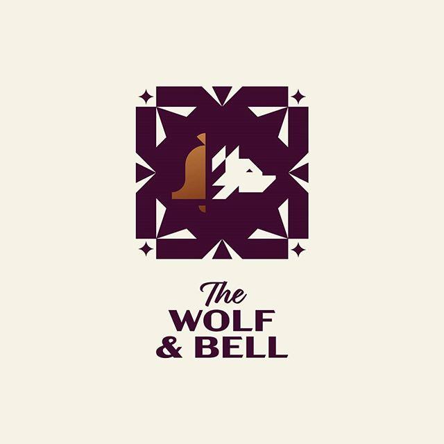 The Wolf & Bell pub 🍺 . . . #logostandard #logodesignerlondon #logodesigner #logomark #pub #publichouse #wolf #bell #branding #icon #illustration #typography #type #design #logoinspirations #logoexcellent #logobloom #logohero #inspofinds #womeninbusiness #minimalism #behance #logofolio #theptdesign