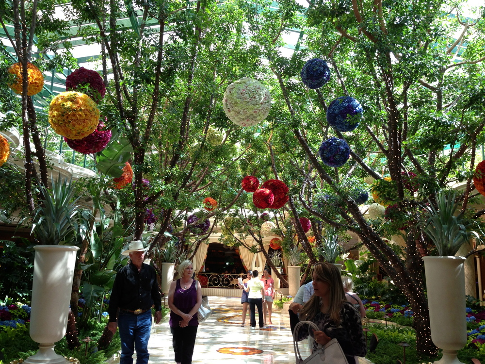 The delicately decorated indoor garden at The Wynn, LV