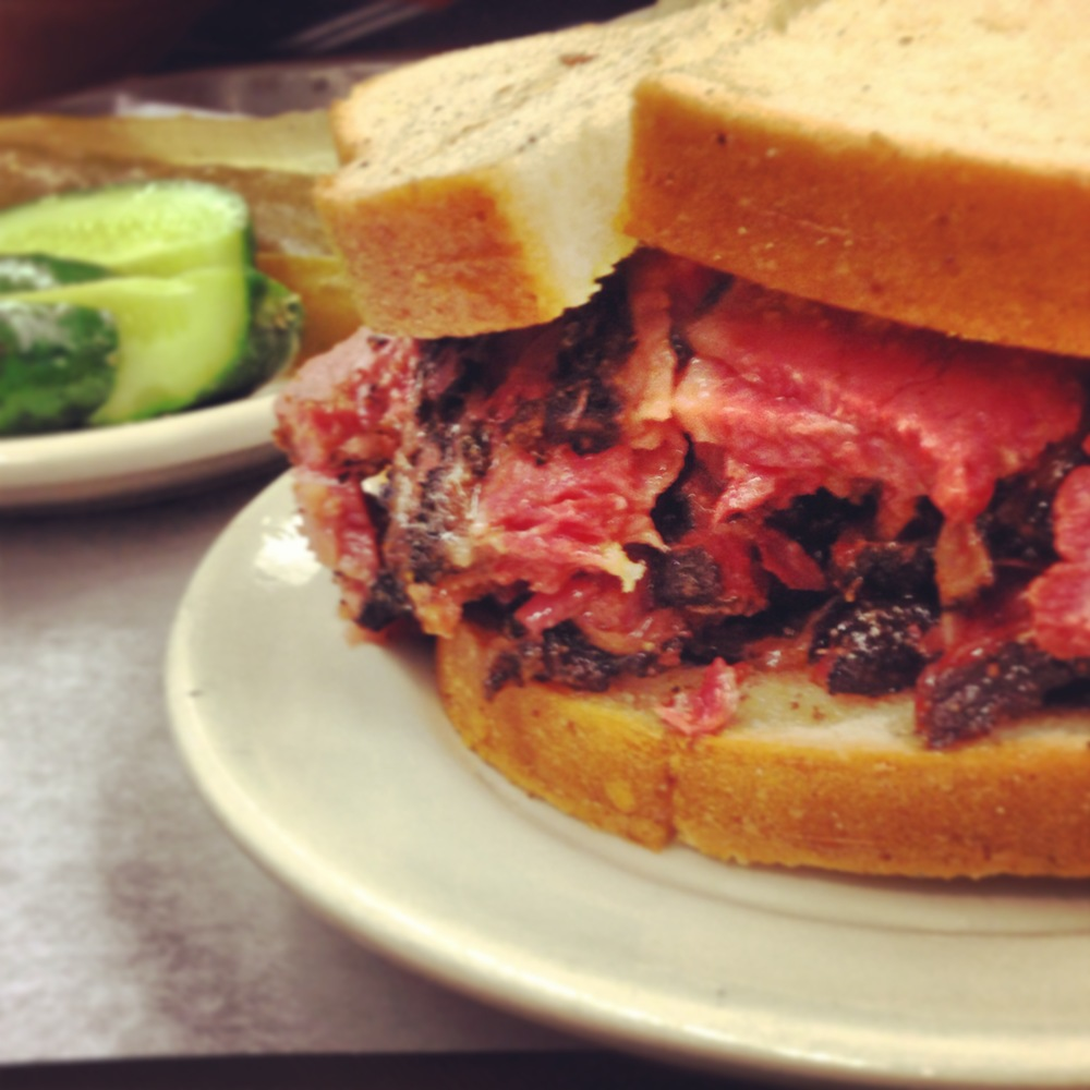 Pastrami on rye from Katz's: not for the faint-hearted