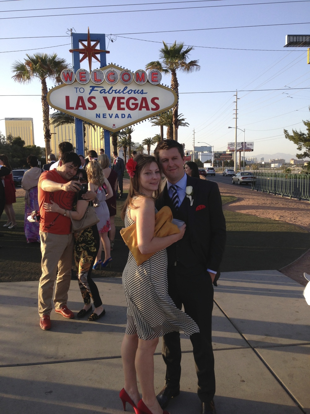 Joe and I strike a pose at the famous Las Vegas sign