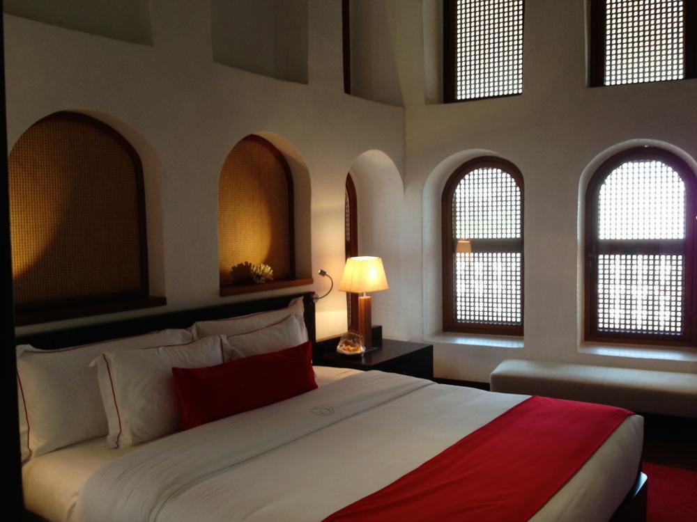 Corner suite at the Souq Waqif Boutique Hotel