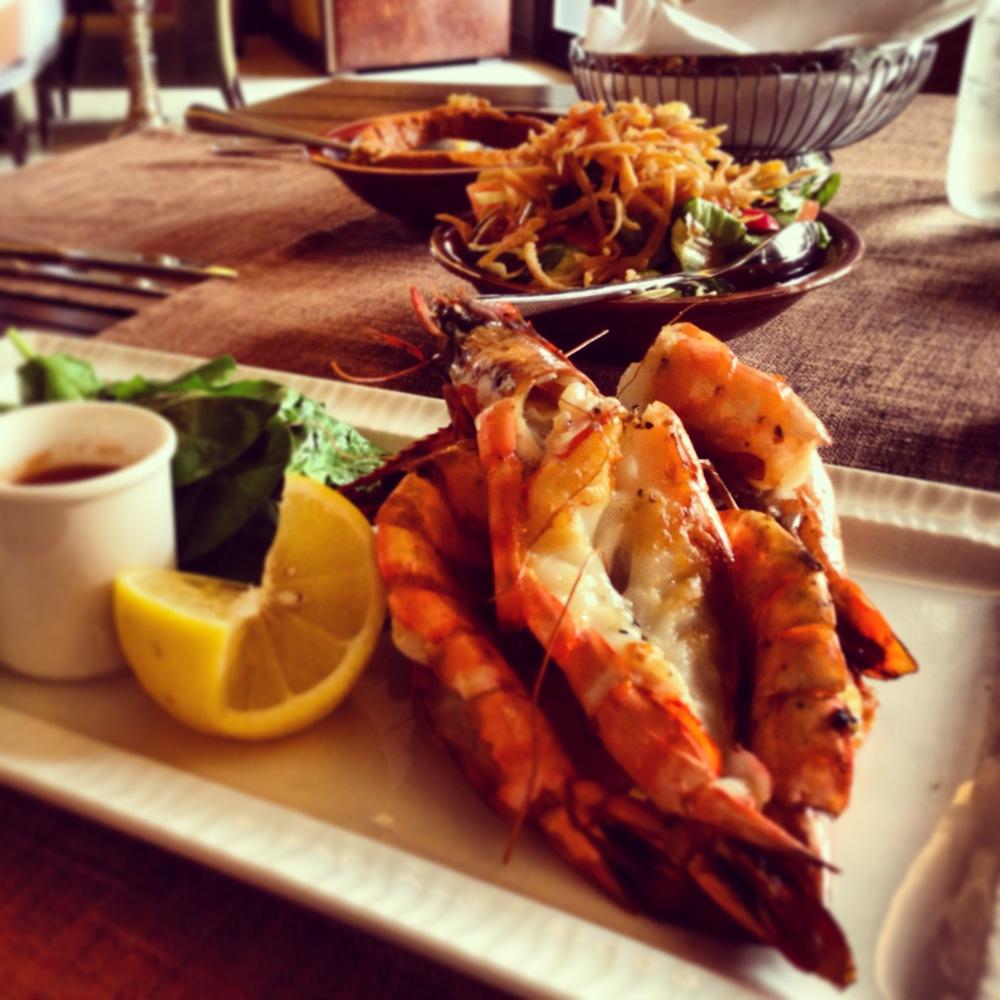 Delicious Gulf prawns