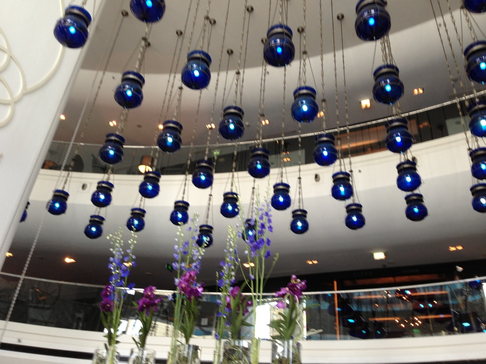 The Blue Mosque-inspired lobby, at The W Doha