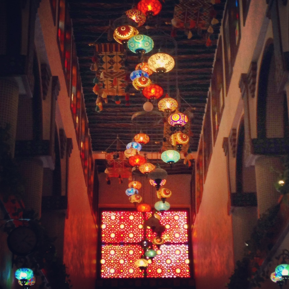 A covered arts arcade in Doha