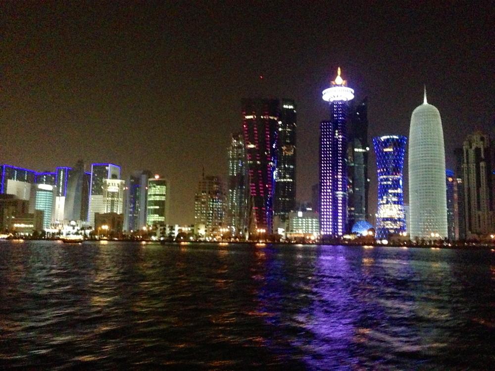 The Doha skyline at night