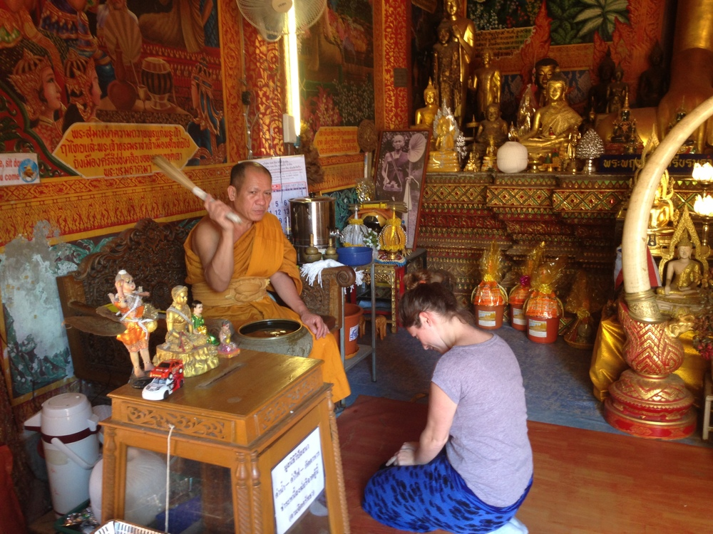 For a small donation, you can enter a temple and be blessed by a monk