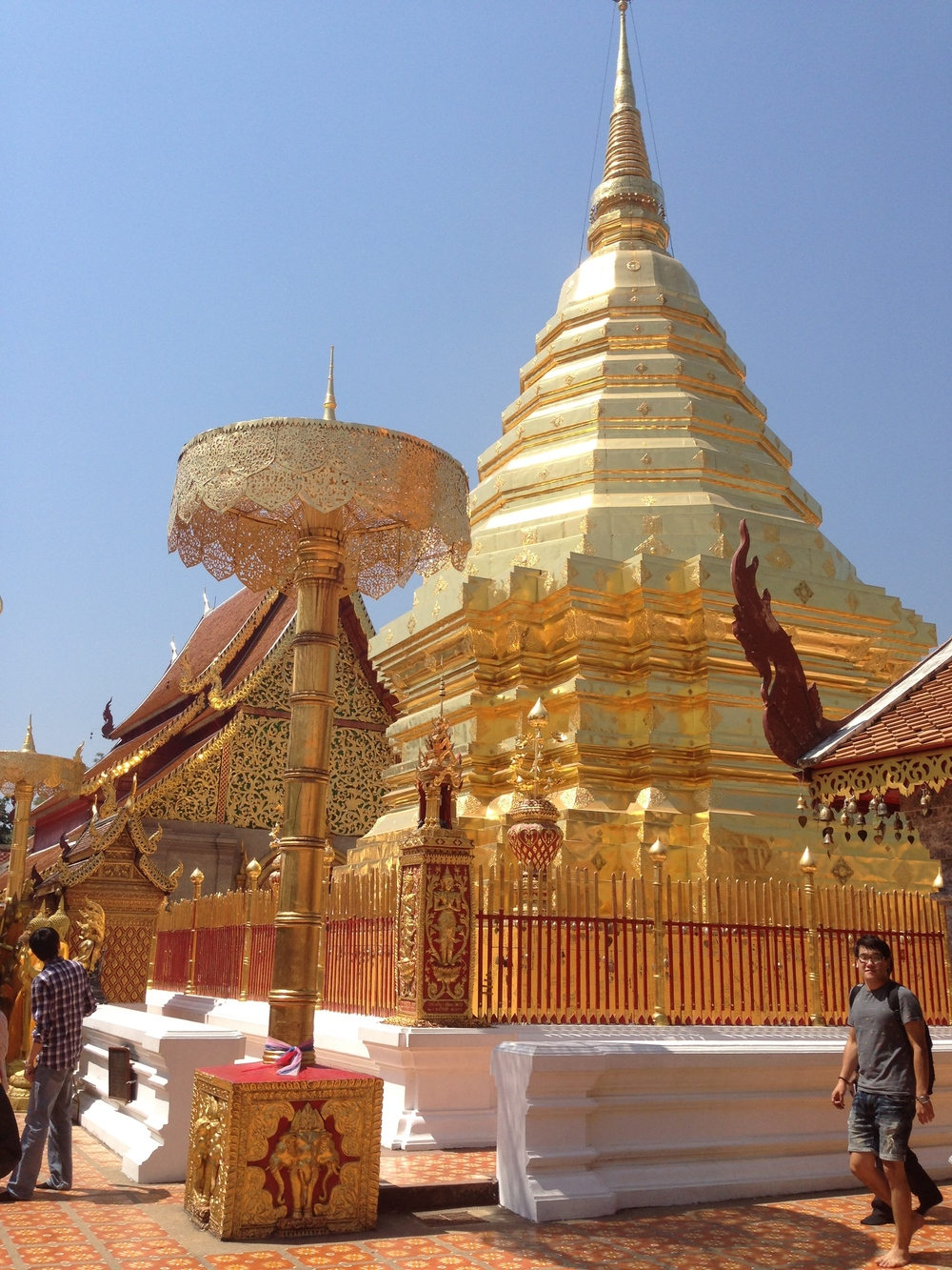 The temple on the hill, Wat Phra That Doi Suthep, offers a taste of Buddhist history and spectacular views over the city