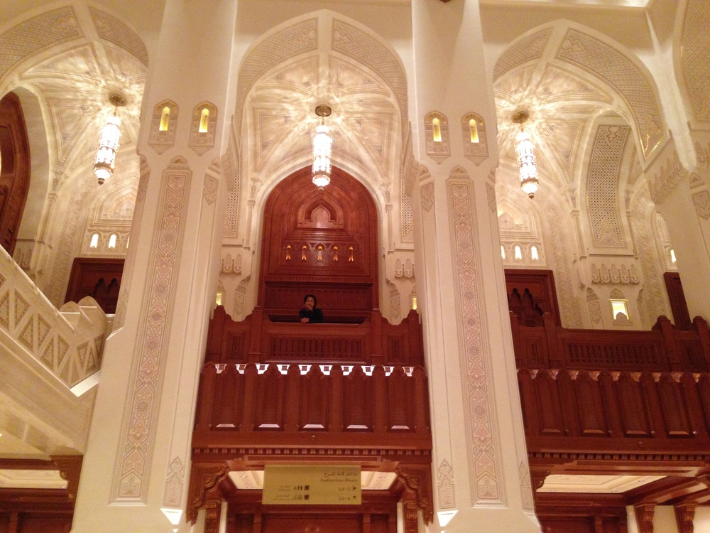 The interior of Muscat Opera House