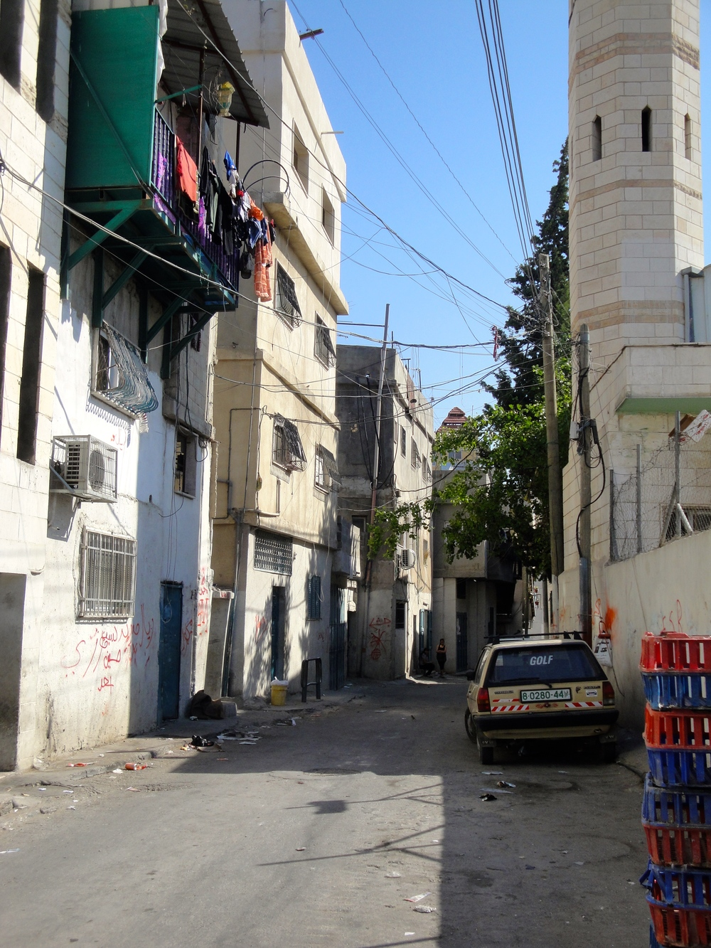 A typical street in Bethlehem, in the Palestinian Territories.