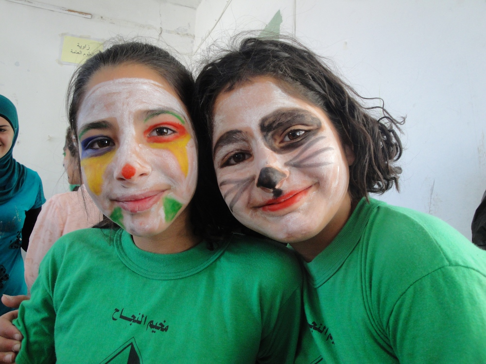 Face-paint and fun at another kids camp.
