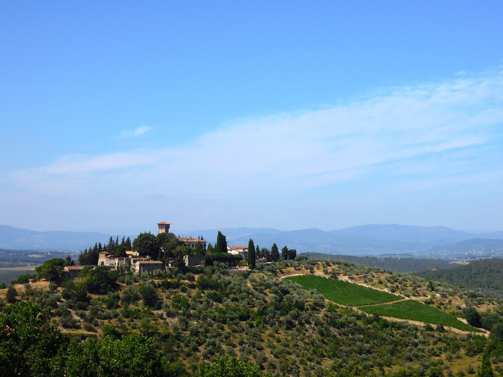 Stunning scenery in Tuscany.