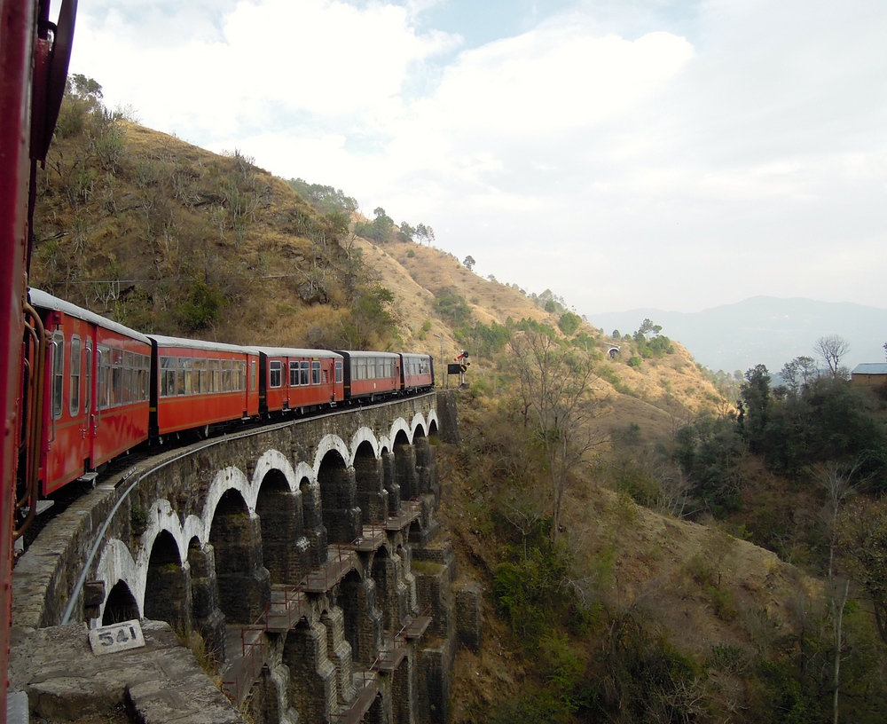 The Kalka-Shimla route is a trainspotter's dream: a mountainous route that winds through beautiful scenery, via epic tunnels and elegant bridges.