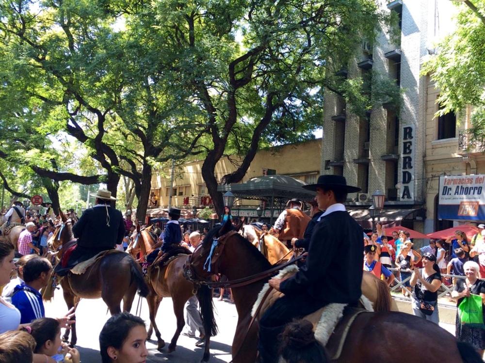Gauchos in procession