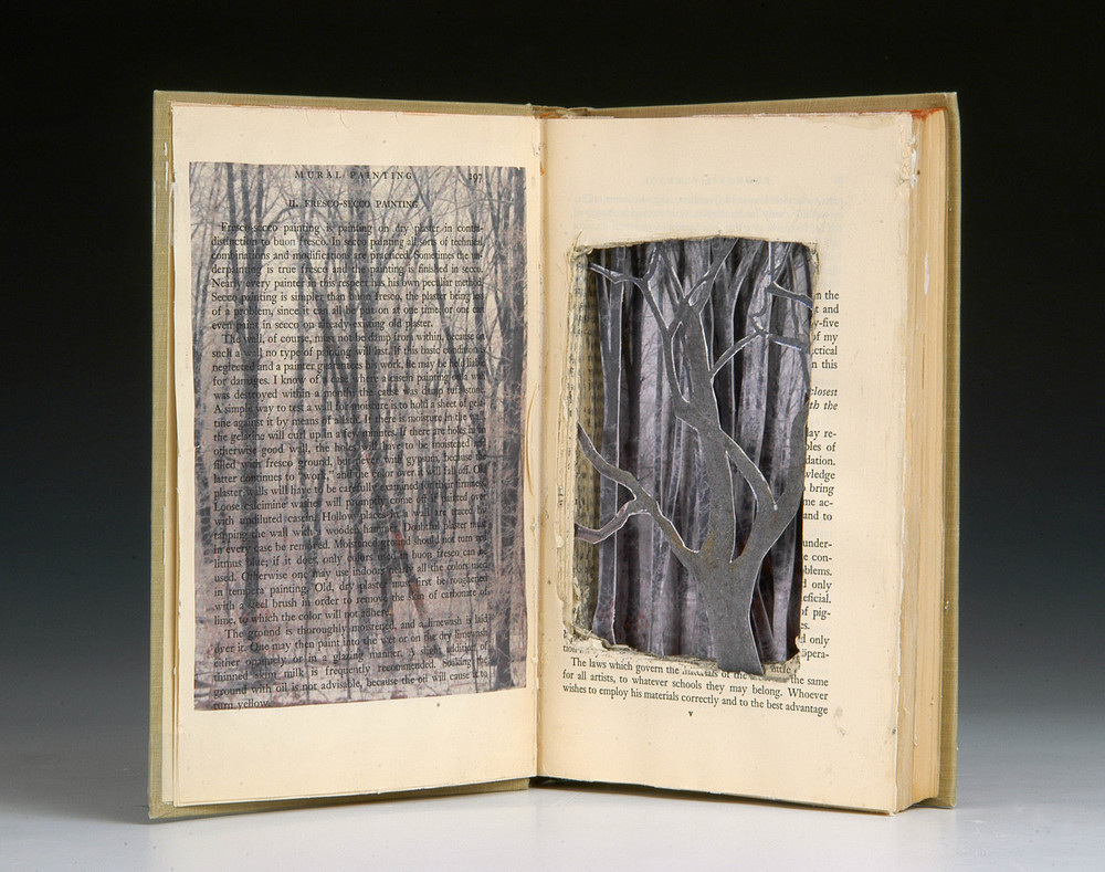 "The Materials of the Artist  , MaryLea Harris, Altered Book with Emulsion Transfer, 9"" x 6"""