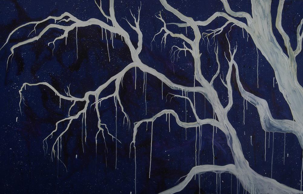 """""""Spiritual Sojourn"""" MaryLea Harris, Acrylic on Canvas, 48"""" x 72"""""""
