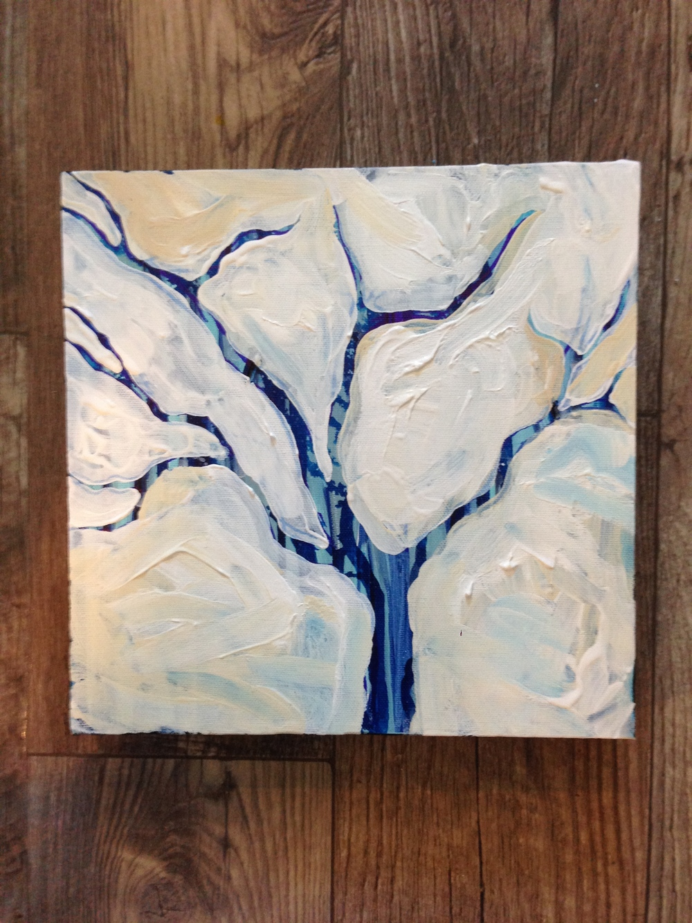 Happy Little Blue Tree 1, MaryLea Harris Acrylic on Canvas, 2014