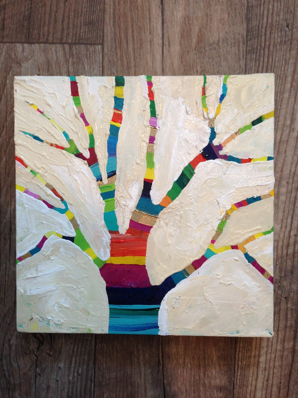 Happy Little Tree 3, by MaryLea Harris Acrylic on Canvas, 2014