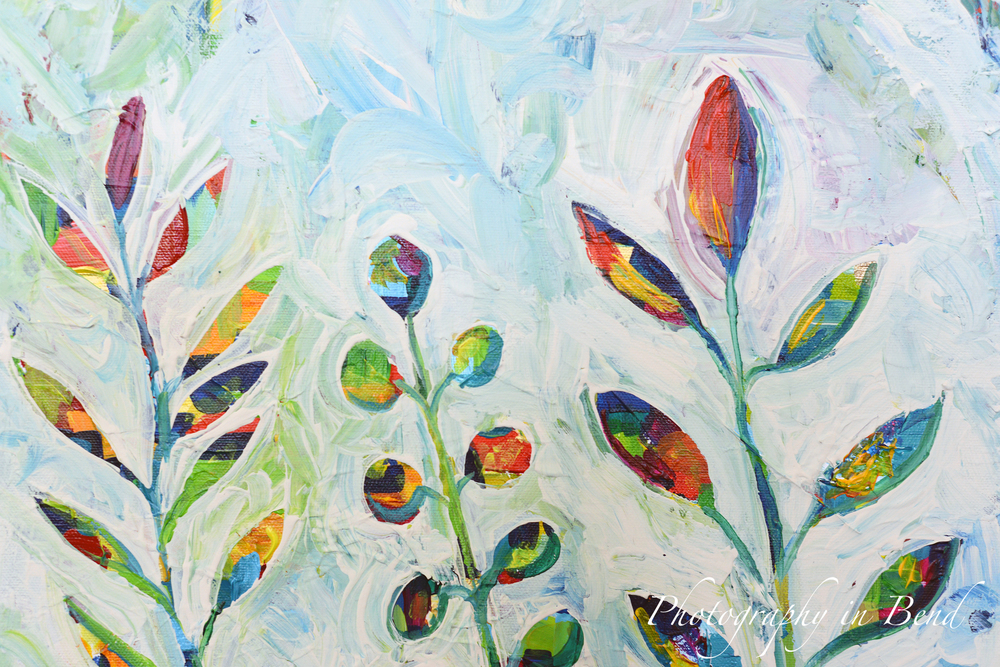 Happy Little Leaves #7, 2014, Painting by MaryLea Harris