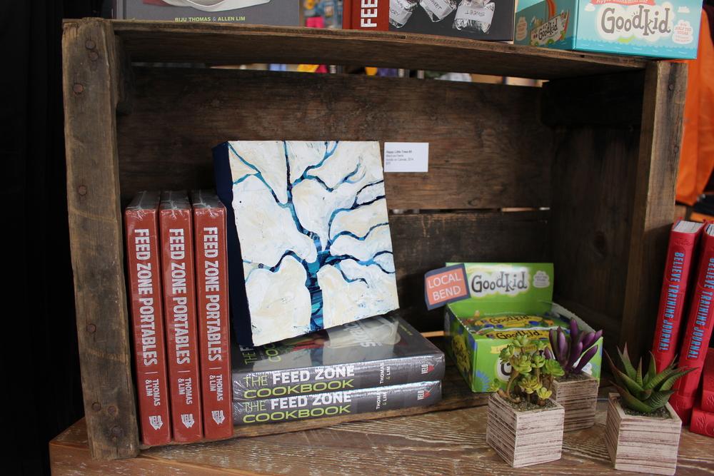 """Happy Little Trees #9""MaryLea Harris, 2014, Acrylic on Canvas, 8""x8""($75)"