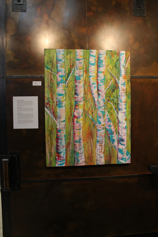 """Birches"" MaryLea Harris, 2014 Acrylic on Canvas, 30""x40"" (SOLD)"