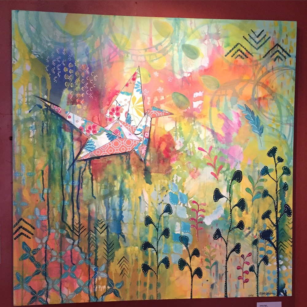 """Taking Flight"" 2015 Mixed Media by MaryLea Harris found a new home in Tucson Arizona!"