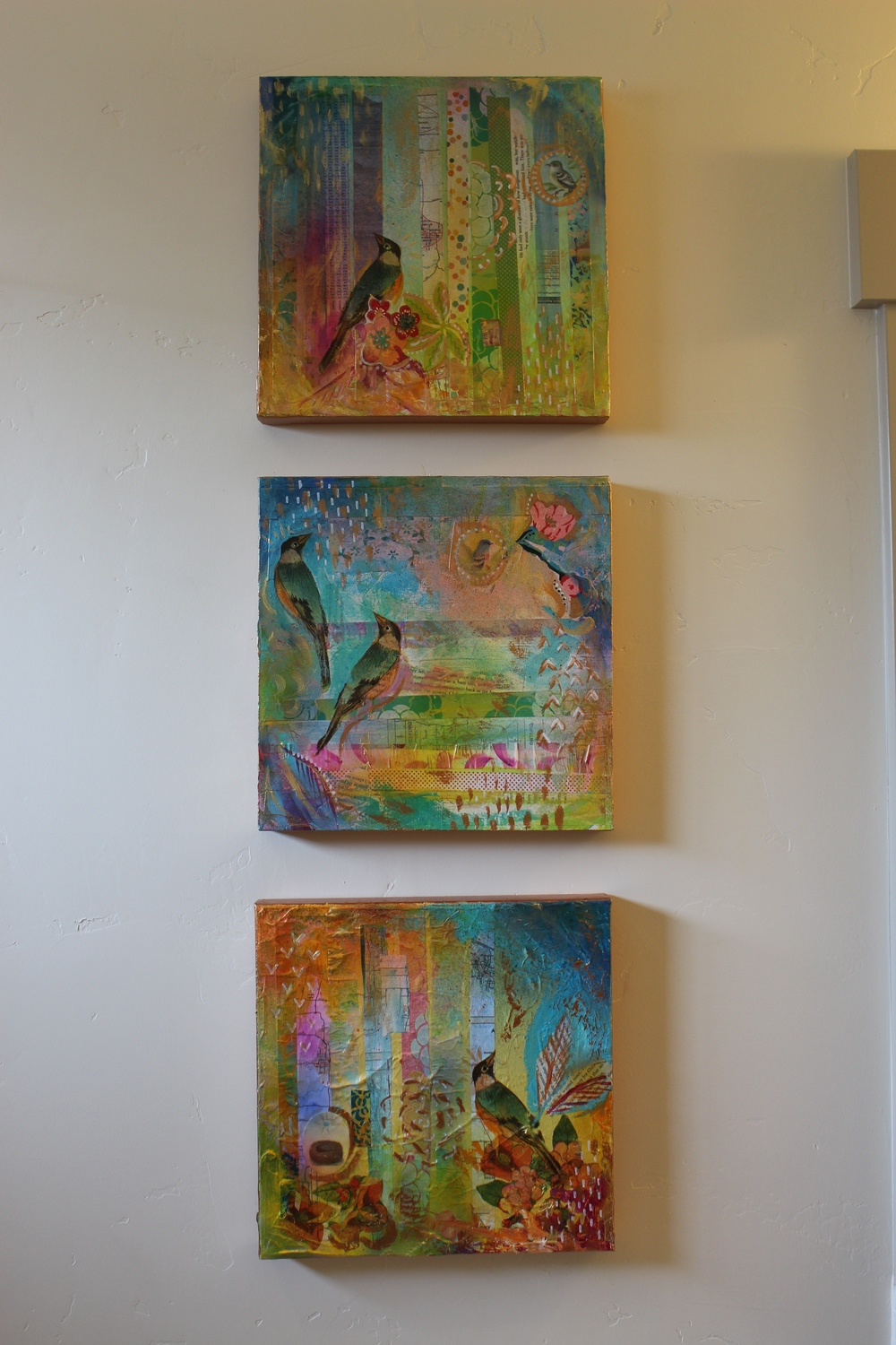 Series of Bird Paintings by MaryLea Harris (SOLD and headed to Fairfax Virginia)
