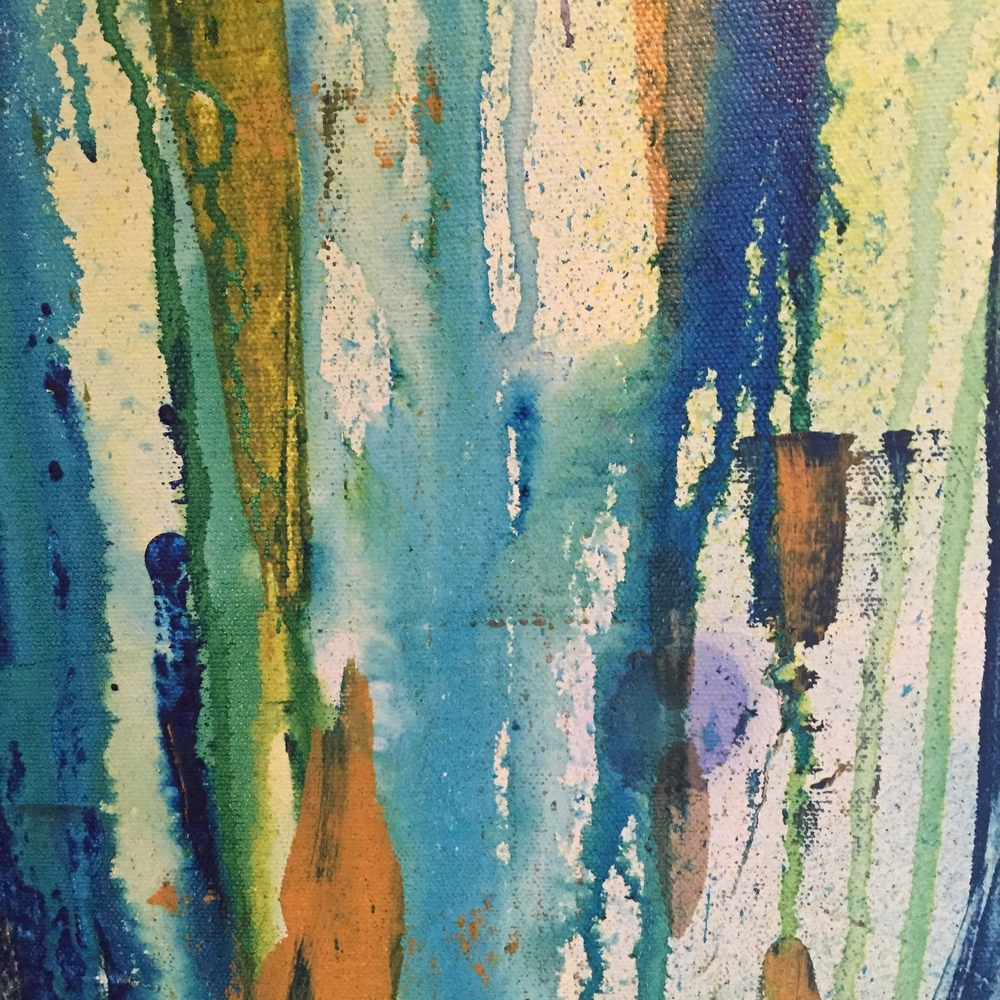 """Anticipation"" 2015 6'x4' by MaryLea Harris (detail)"