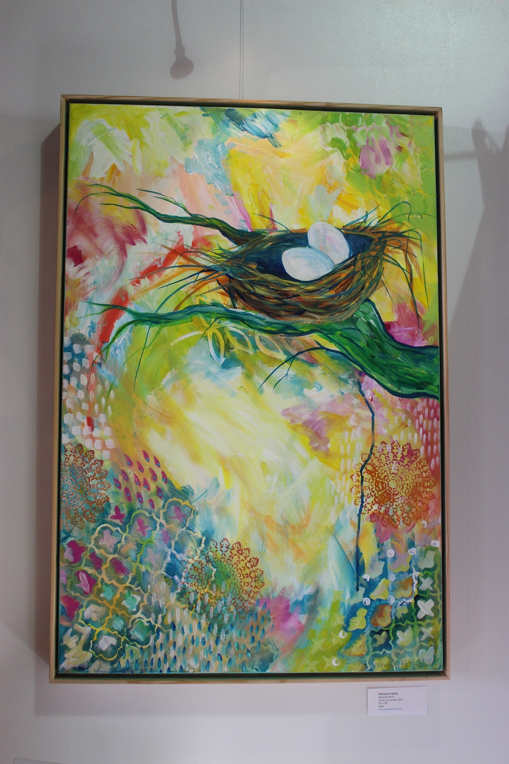 """Waiting For Spring"" 2015 24"" x 36"" by MaryLea Harris (available for sale)"