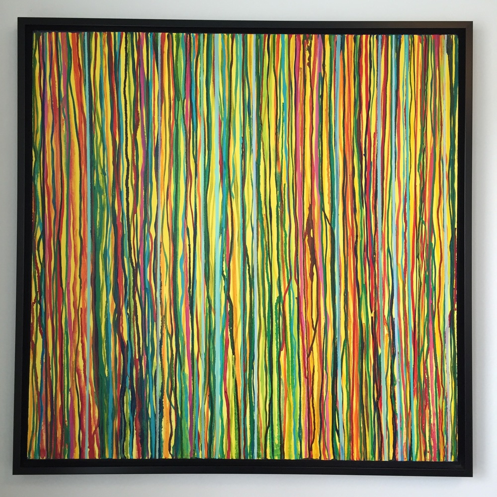"""Stripes #3"" 2015, MaryLea Harris 36"" x 36"""