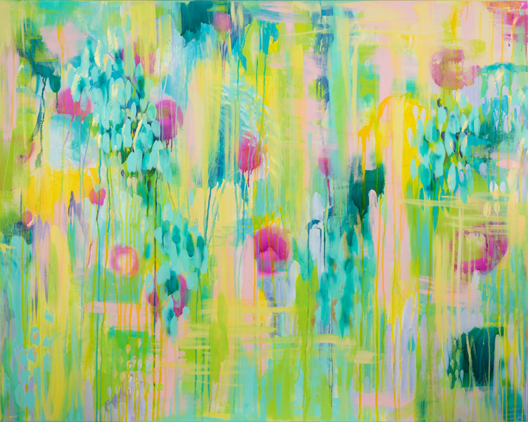 """Summer Pond"" 2016, MaryLea Harris 48"" x 60"""