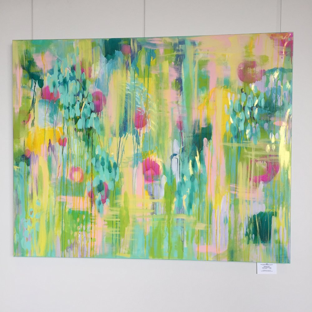 "My painting Summer Pond fit perfectly in the big hallways! 48""x60"" $2200 Available."