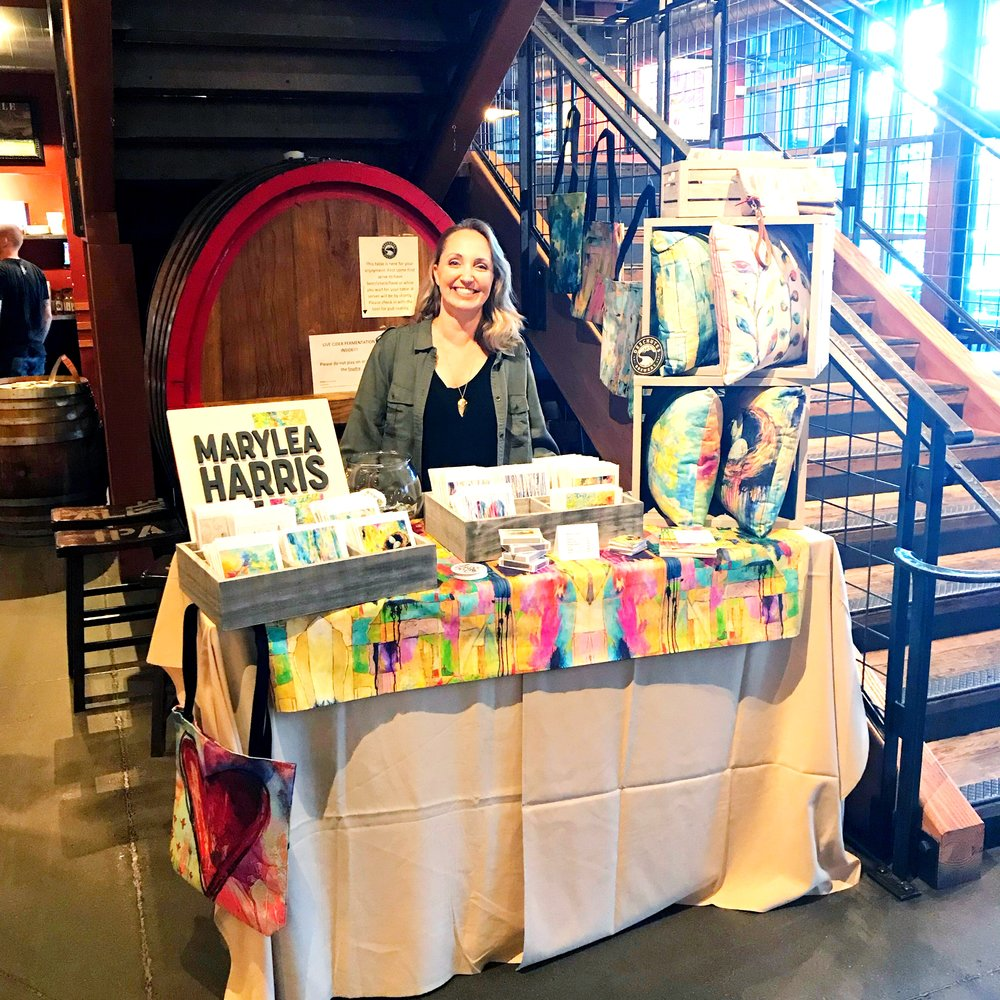 MaryLea Harris First Friday Booth at Deschutes Brewery October 2017, Bend Oregon
