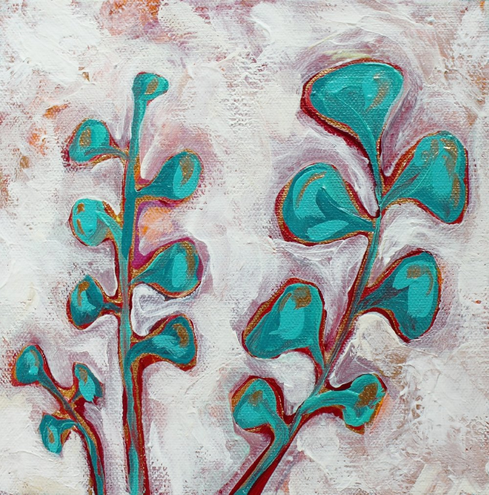 Happy Little Leaves Painting by MaryLea Harris (2015) SOLD