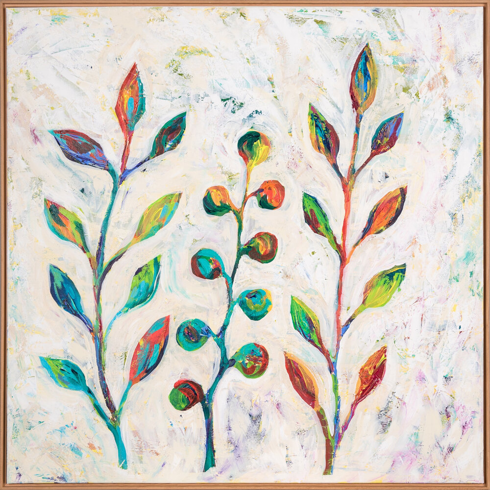 """I Like. Big. Leaves"" (2015) by MaryLea Harris, NFS 36""x36"""