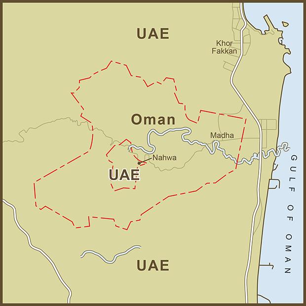 Oman-UAE, Exclave Map.png