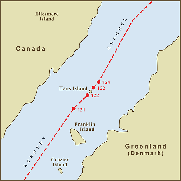 Canada-Denmark, Hans Island Map.png