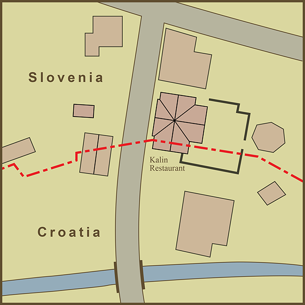 Croatia-Slovenia, Kalin's Restaurant Map.png